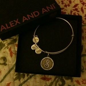 "RETIRED****Alex and Ani silver ""S"" bracelet"